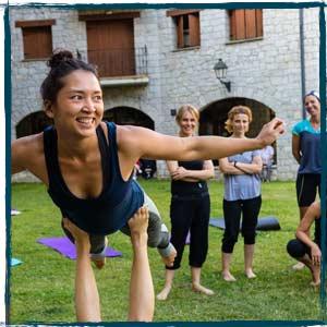 Acro Yoga Benasque Positivo Festival