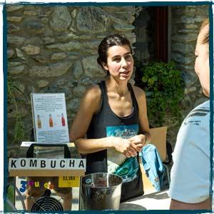 Kombucha La Valiente en Positivo Festival